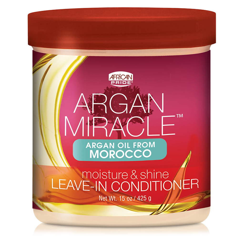 African Pride Argan Miracle Moisture & Shine Leave-In Conditioner (15 oz.)