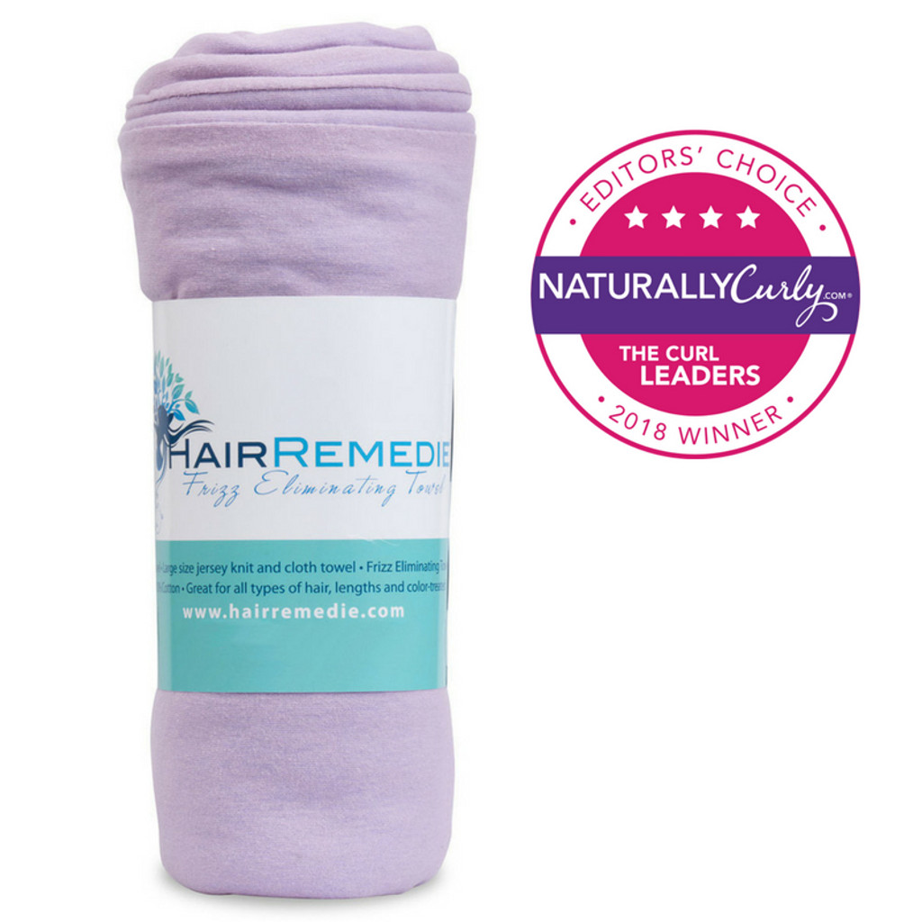 Hair Remedie Frizz Eliminating Towel- Lavender