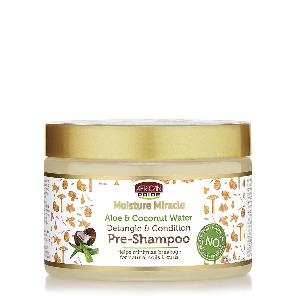 African Pride Moisture Miracle Aloe & Coconut Water Pre-Shampoo (12 oz.)