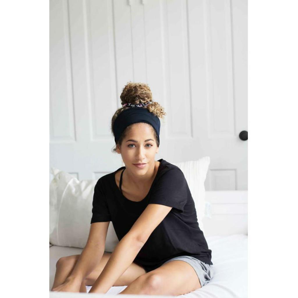 Grace Eleyae Black Jersey Knit Headband