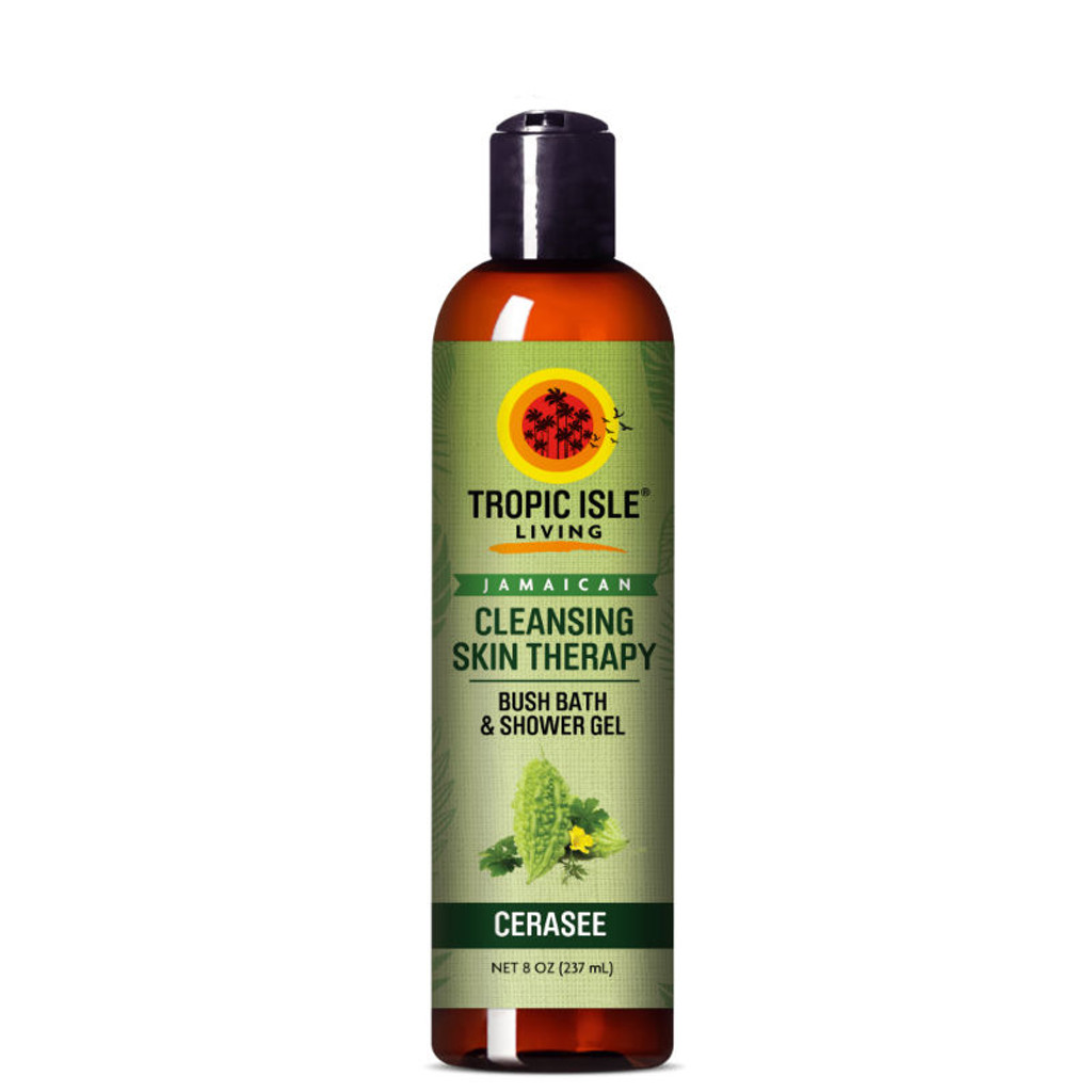 Tropic Isle Living Jamaican Cleansing Skin Therapy Cerasee Bush Bath & Shower Gel (8 oz.)