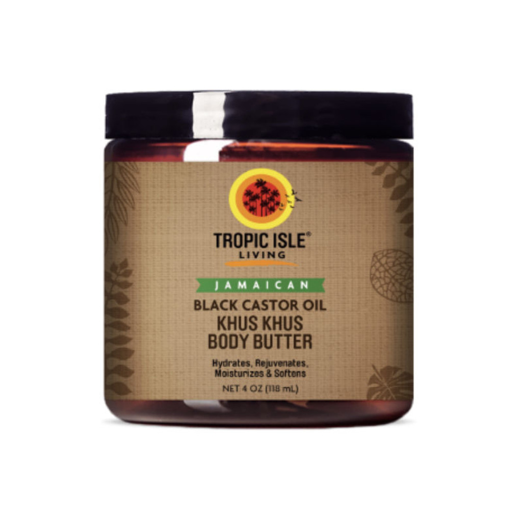 Tropic Isle Living Jamaican Black Castor Oil Khus Khus Body Butter (4 oz.)