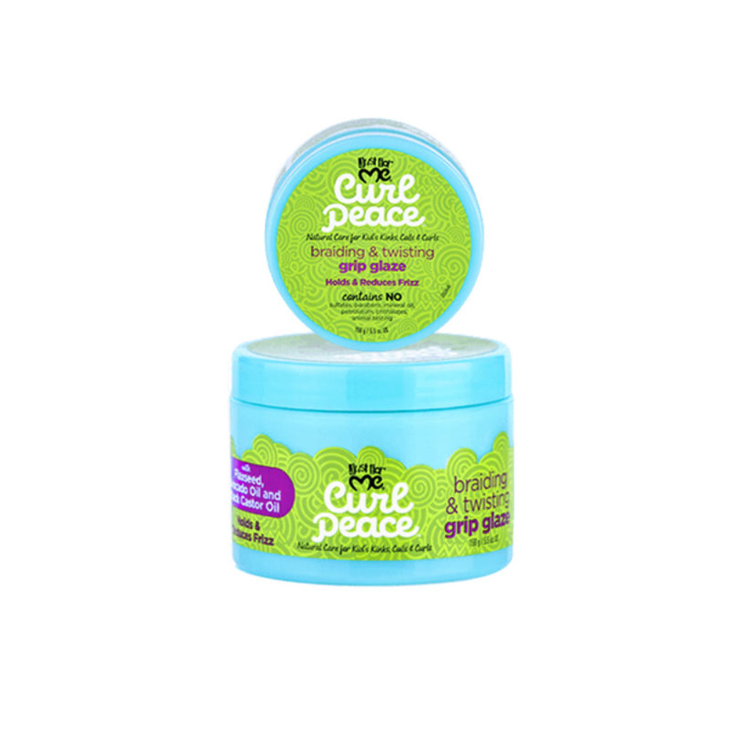 Just For Me Curl Peace Braiding & Twisting Grip Glaze (5.5 oz.)