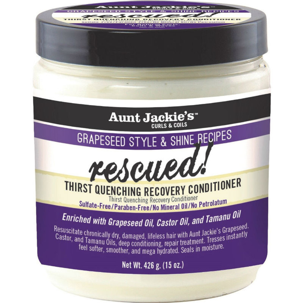 Aunt Jackie's Grapeseed Style & Shine Recipes RESCUED! Thirst Quenching Recovery Conditioner (15 oz.)