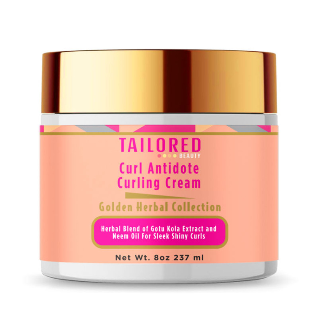 Tailored Beauty Golden Herbal Collection Curl Antidote Curling Cream (8 oz.)