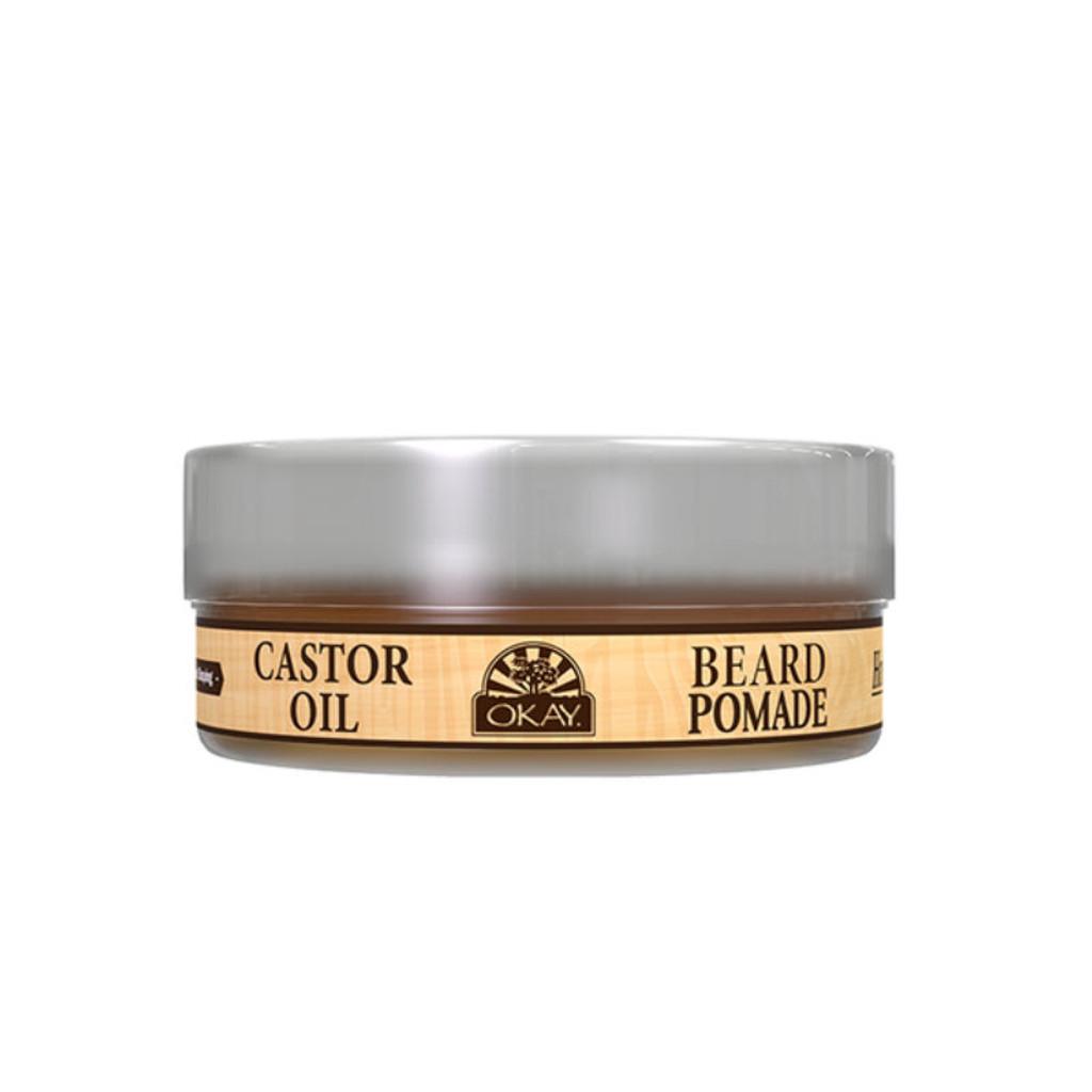 OKAY Pure Naturals for Men Castor Oil Beard Pomade (2 oz.)