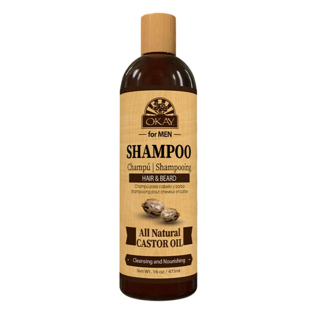 OKAY Pure Naturals for Men Castor Oil Hair & Beard Shampoo (16 oz.)