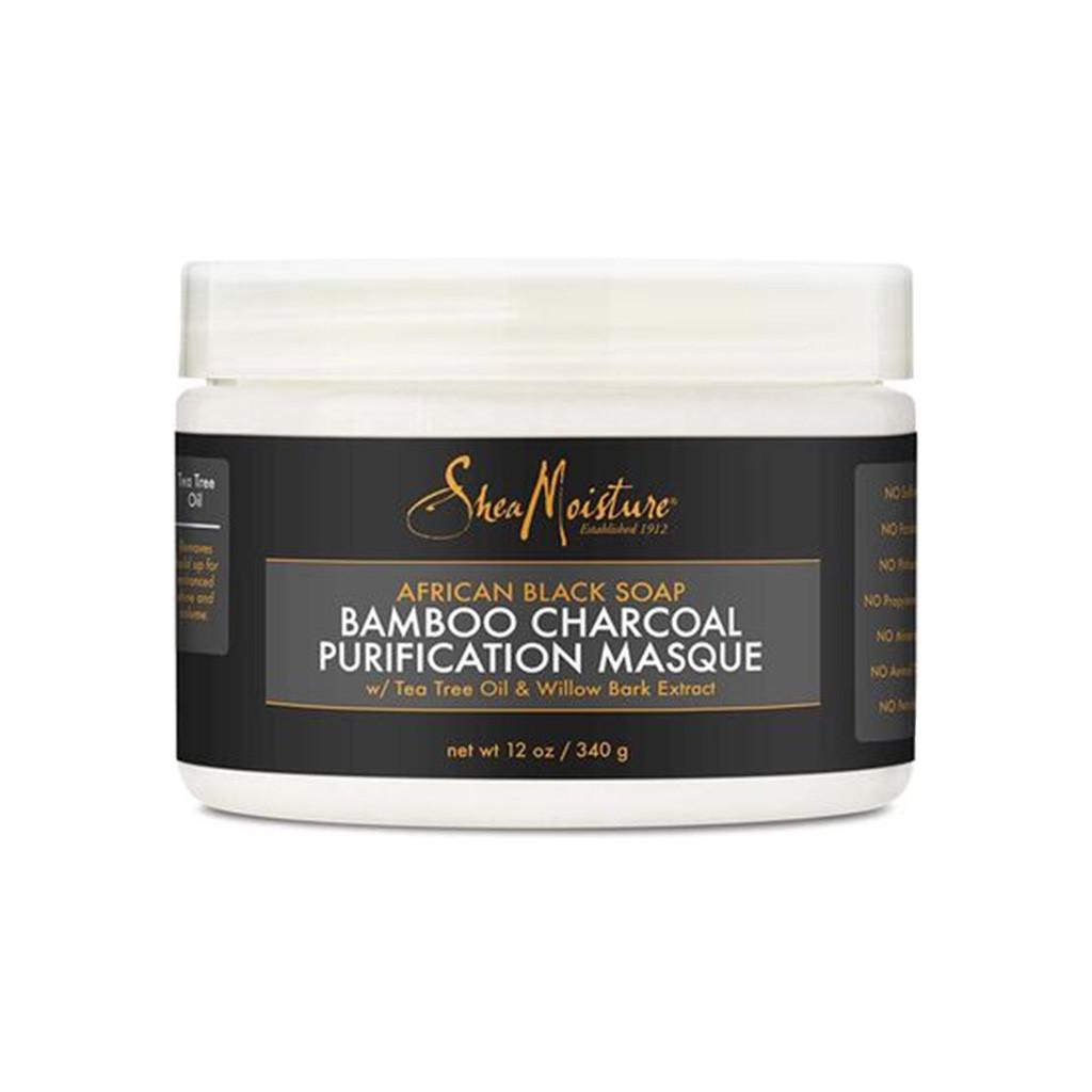 SheaMoisture African Black Soap Bamboo Charcoal Purification Masque (12 oz.)