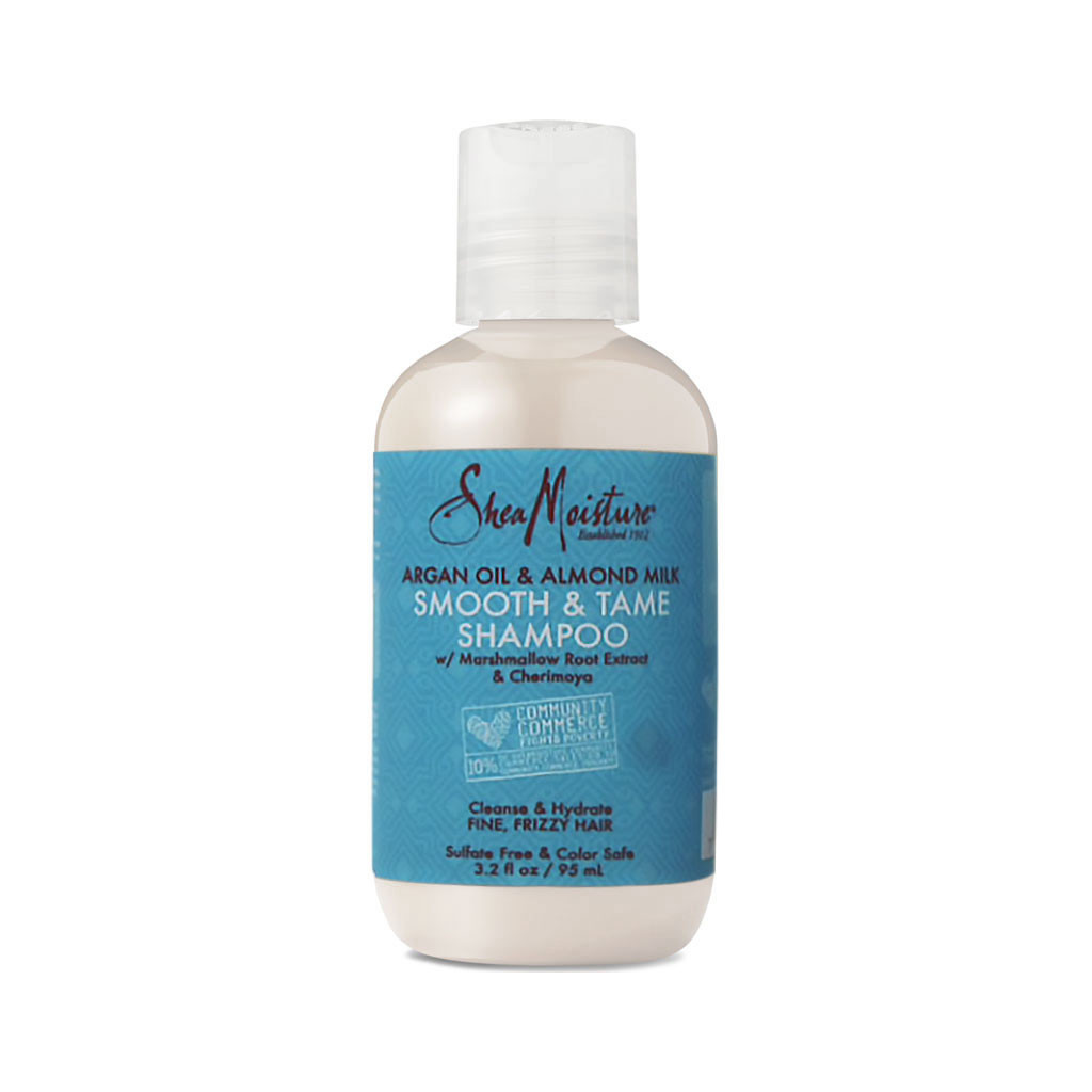 SheaMoisture Argan Oil & Almond Milk Smooth & Tame Shampoo Travel Size (3.2 oz.)