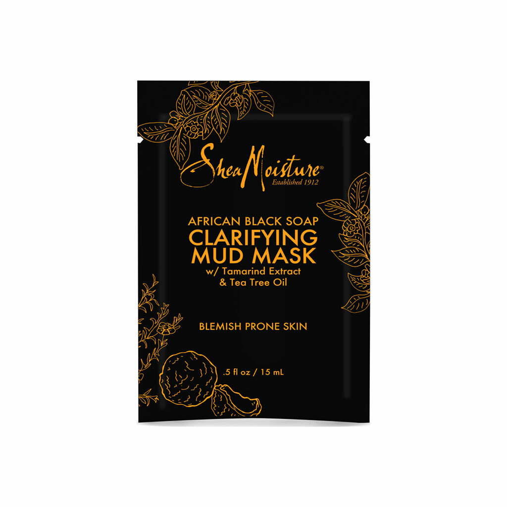 SheaMoisture African Black Soap Clarifying Mud Mask Packette (0.5 oz.)