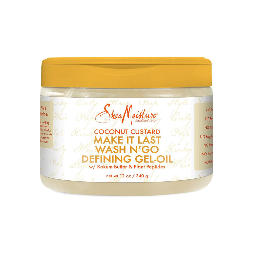 SheaMoisture Coconut Custard Make It Last Wash N' Go Defining Gel-Oil (12 oz.)