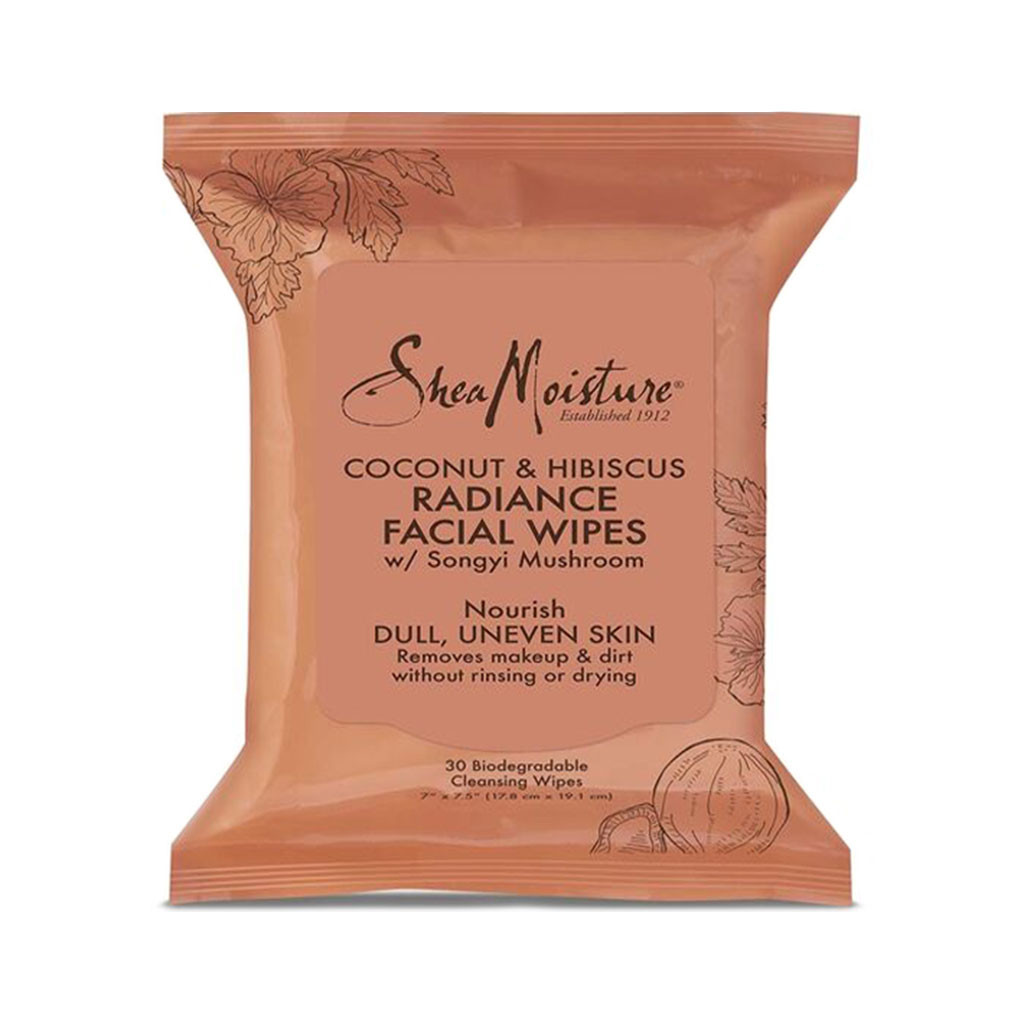 SheaMoisture Coconut & Hibiscus Radiance Facial Wipes (30 ct.)