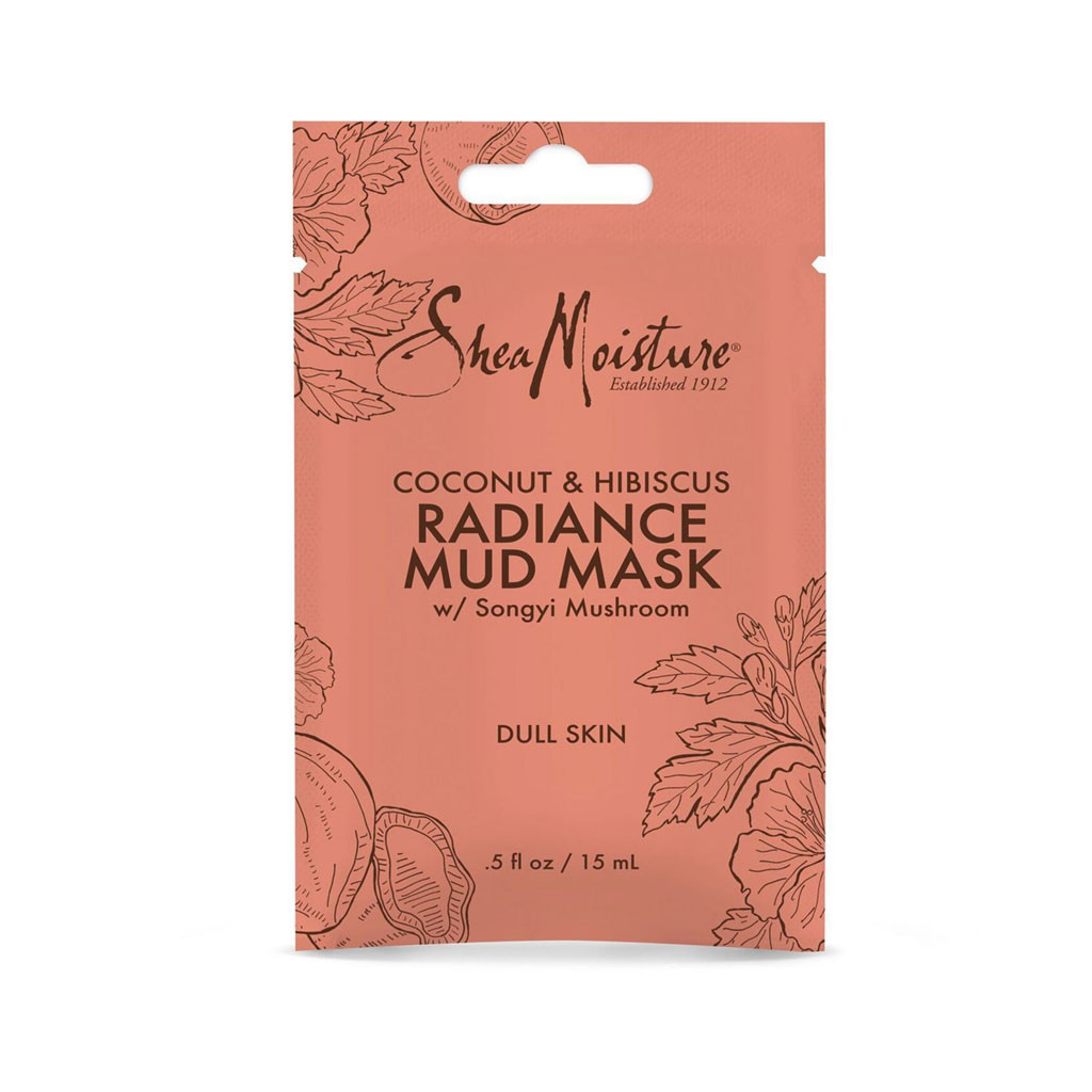 SheaMoisture Coconut & Hibiscus Radiance Mud Mask Packette (0.5 oz.)