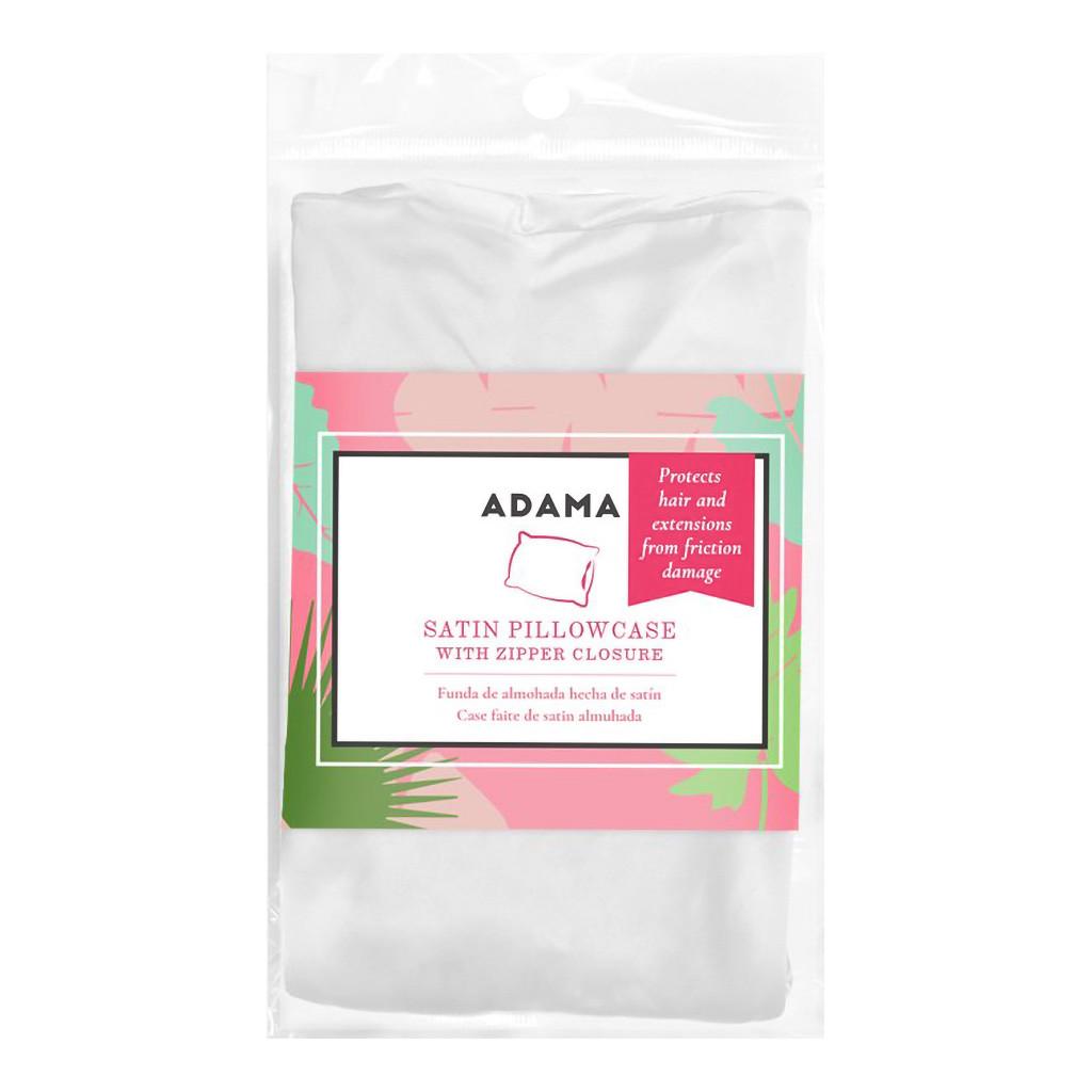 Adama White Satin Pillow Case