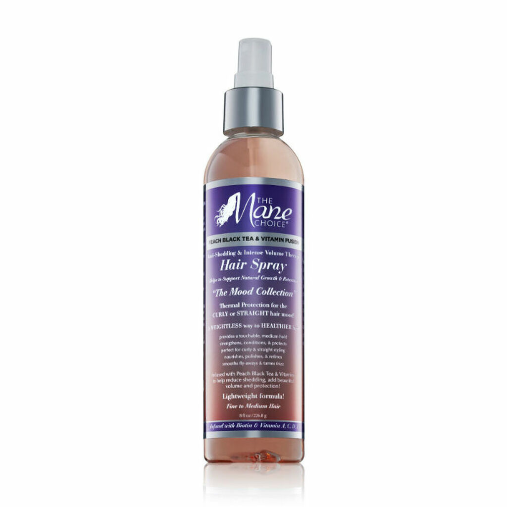 The Mane Choice Peach Black Tea & Vitamin Fusion Anti-Shedding & Intense Volume Therapy Hair Spray (8 oz.)