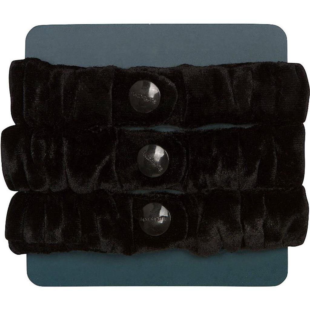 SwirlyCurly Black Velvet Afro Puff Scrunchies (3 ct.)