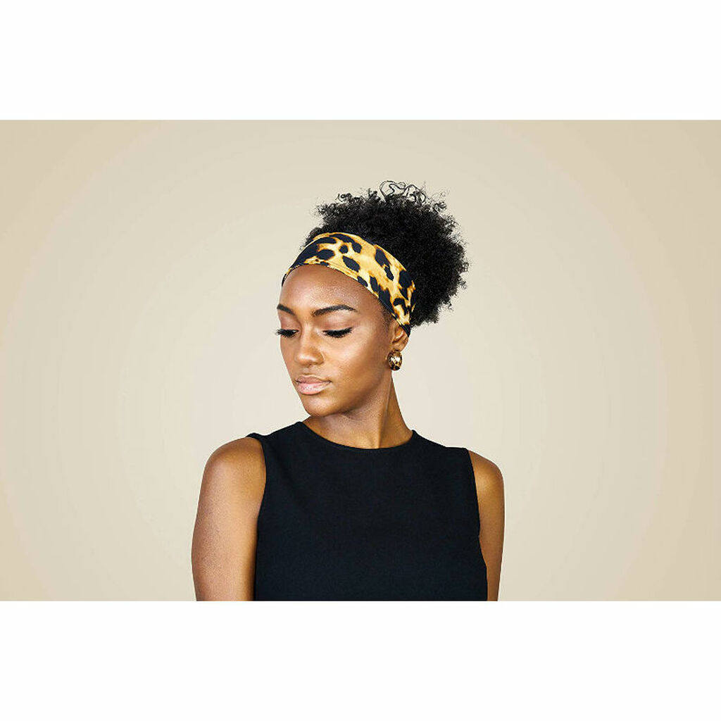 SwirlyCurly Leopard Adjustable Headband