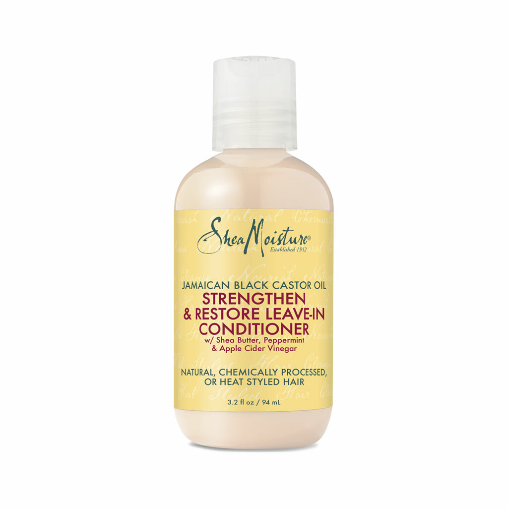 SheaMoisture Jamaican Black Castor Oil Strengthen & Restore Leave-In Conditioner Trial & Travel Size (3.2 oz.)