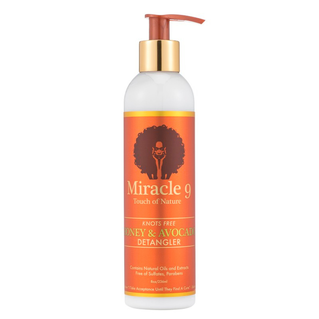 Miracle 9 Touch of Nature Knots Free Honey & Avocado Detangler (8 oz.)