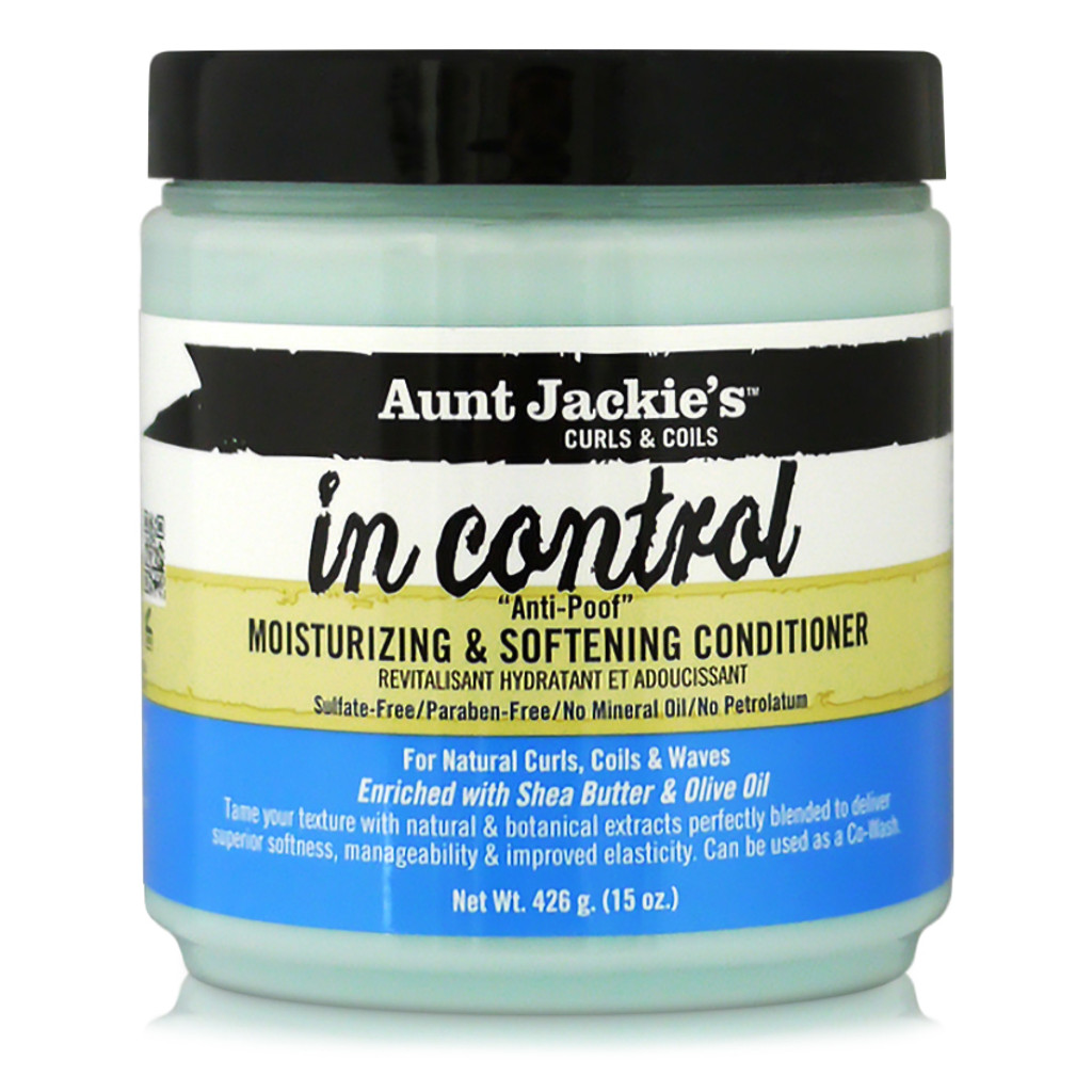 Aunt Jackie's Curls & Coils In Control Anti-Poof Moisturizing & Softening Conditioner (15 oz.)