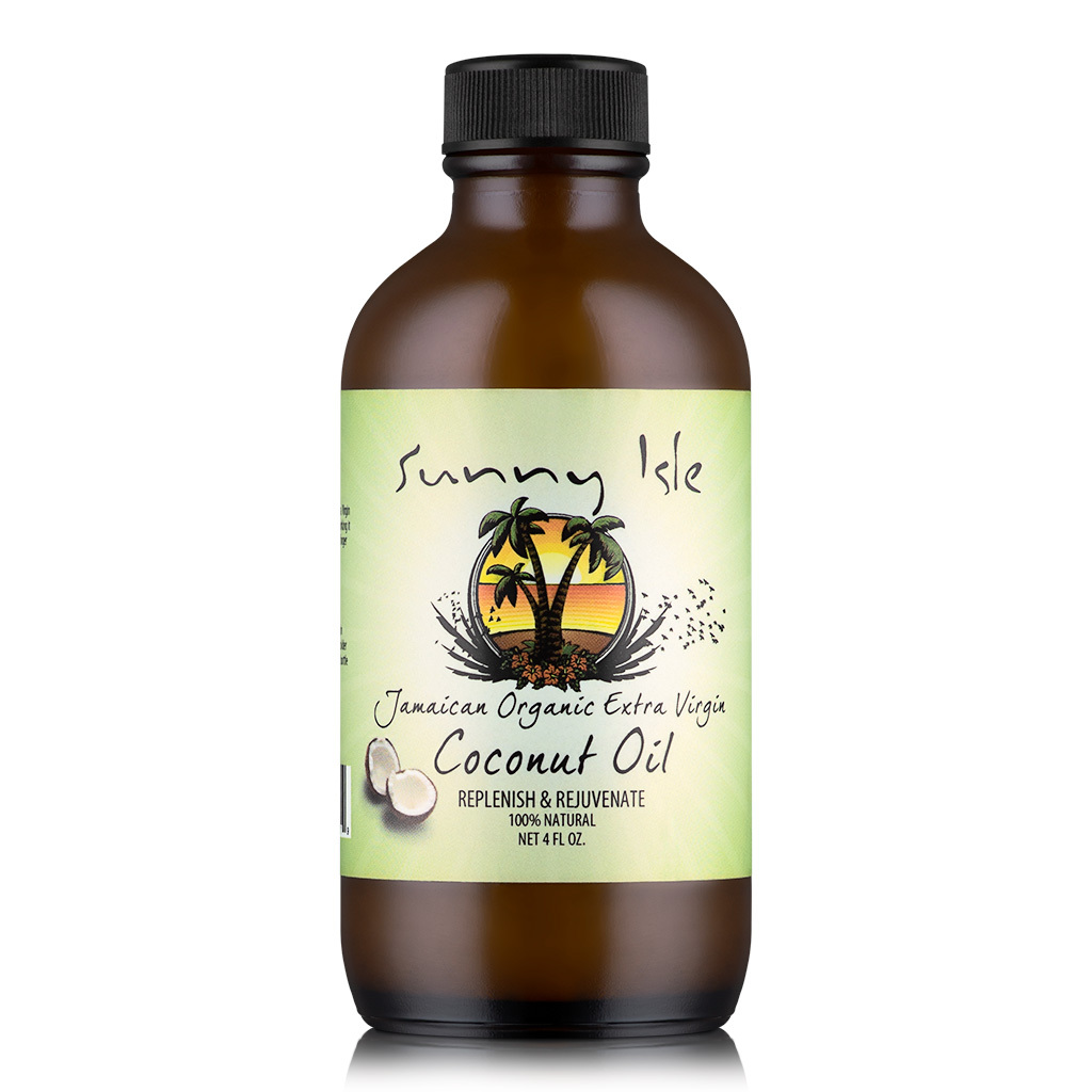 Sunny Isle Jamaican Organic Extra Virgin Coconut Oil (4 oz.)