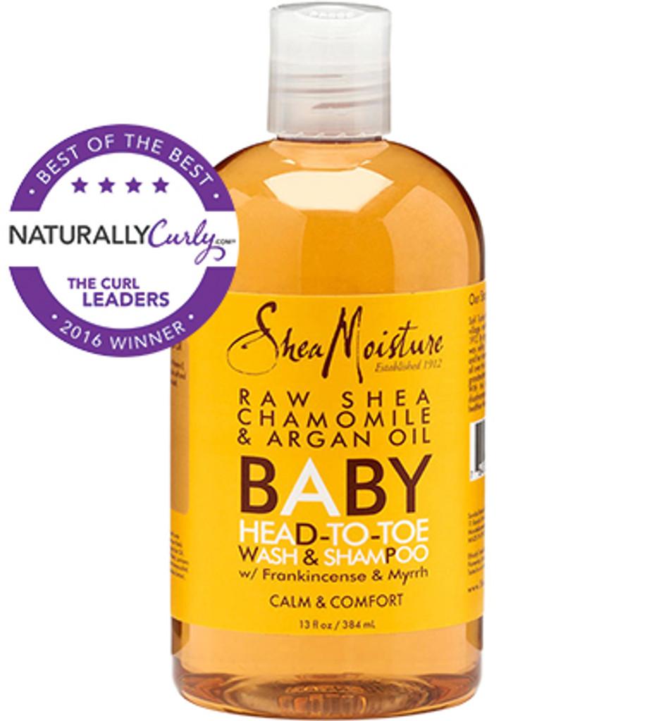 SheaMoisture Raw Shea Chamomile & Argan Oil Baby Head To Toe Wash & Shampoo  20 oz.