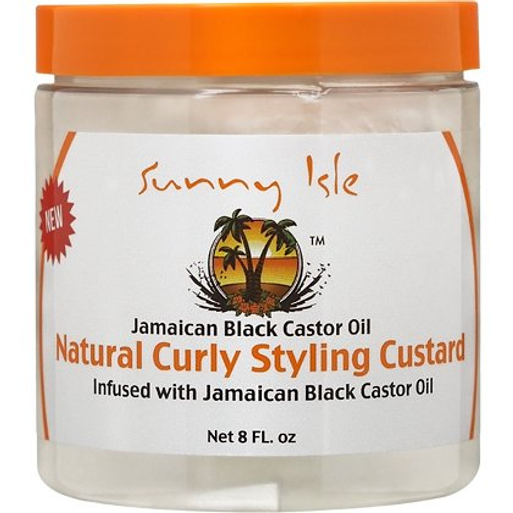 Sunny Isle Jamaican Black Castor Oil Natural Curly Styling Custard (8 oz.)