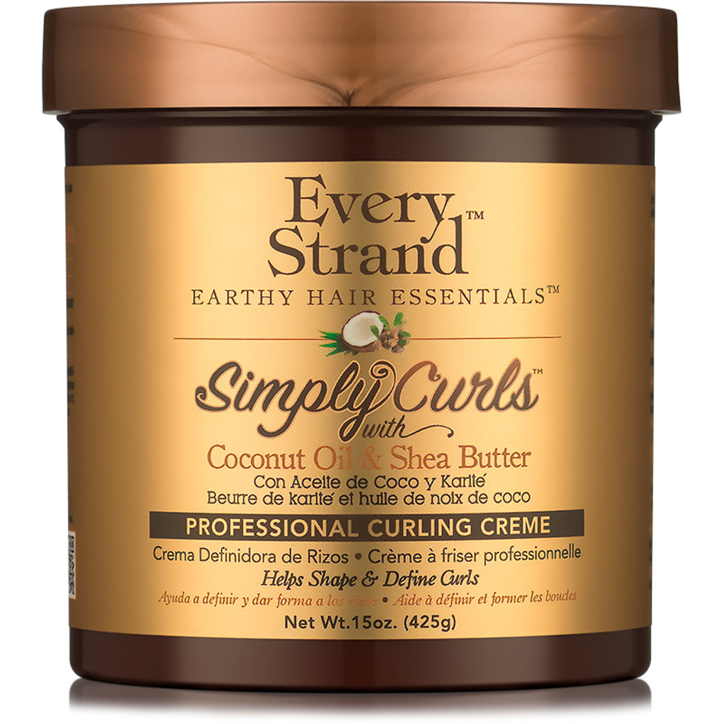 Every Strand Simply Curls Coconut Oil & Shea Butter Professional Curling Cream (15 oz.)