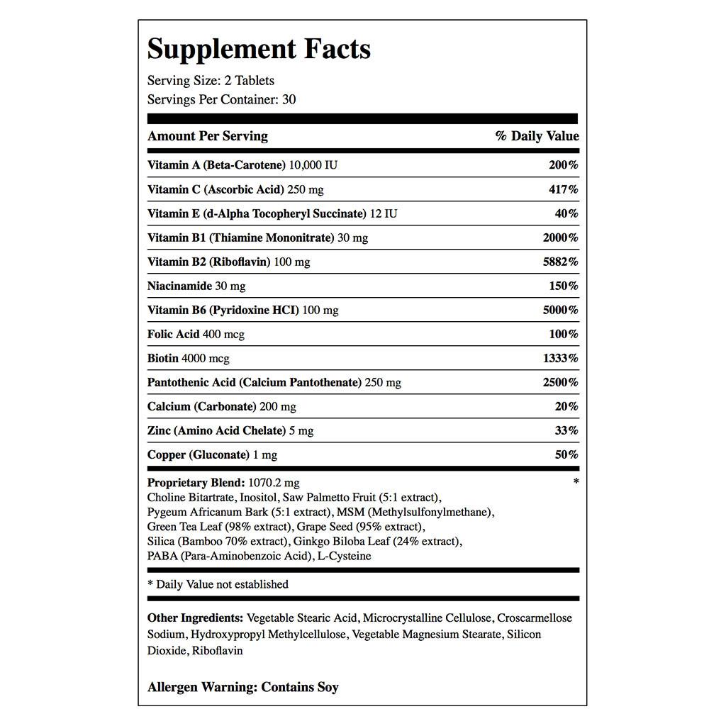 Mielle Organics Adult Healthy Hair Formula Vitamins (60 ct.)