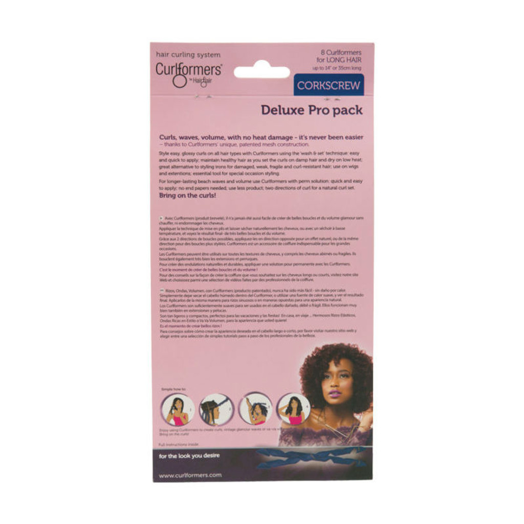 Curlformers by Hair Flair Deluxe Pro Pack for Long Hair & Corkscrew Curls (8 ct.)