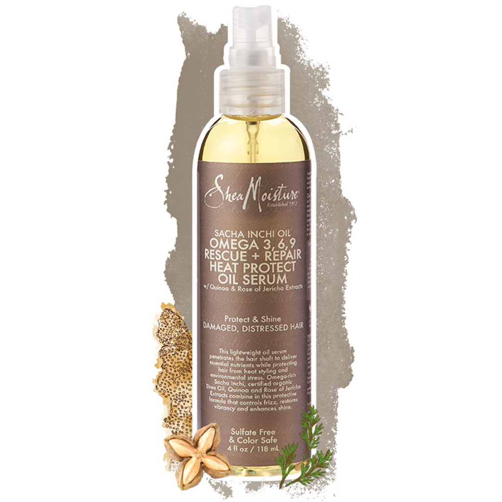 SheaMoisture Sacha Inchi Oil Omega 3-6-9 Rescue + Repair Heat Protect Oil Serum (4 oz.)
