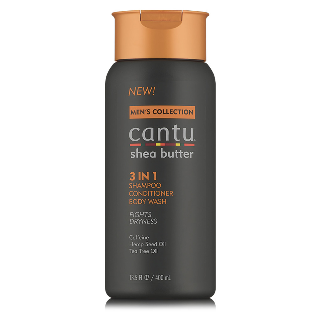 Cantu Men 3 in 1 Shampoo, Conditioner, & Body Wash (13.5 oz.)