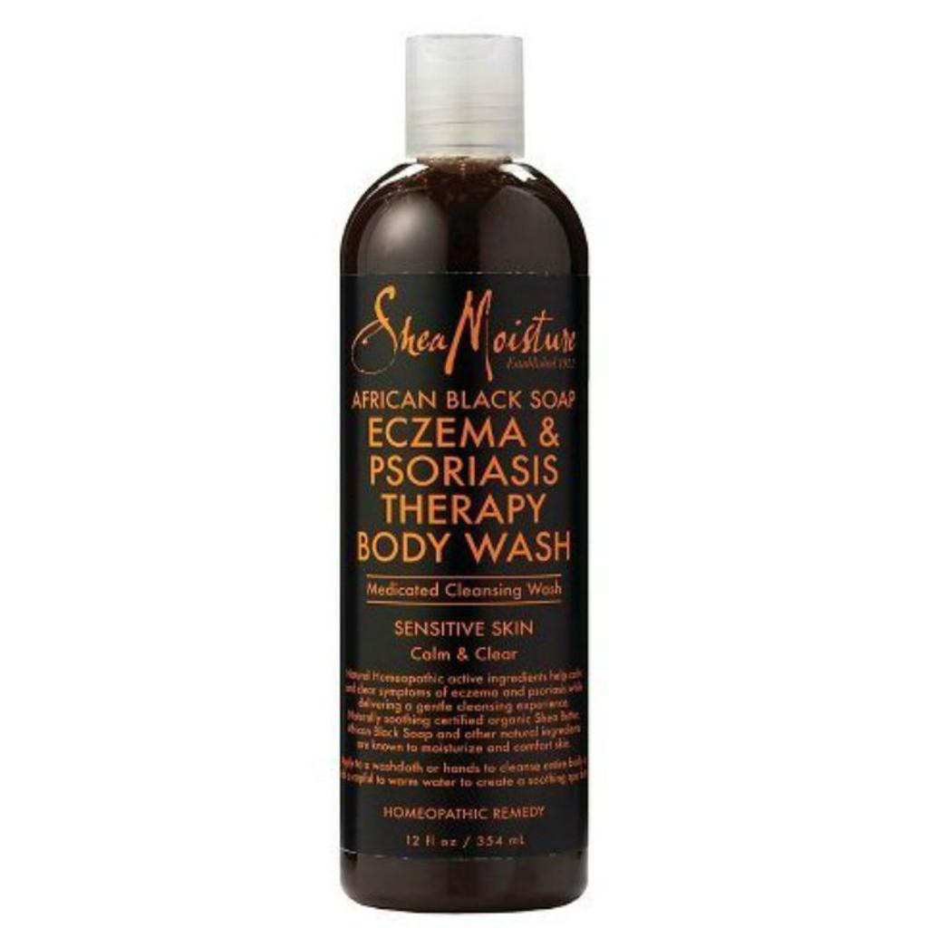 SheaMoisture African Black Soap Eczema & Psoriasis Therapy Body Wash (12 oz.)