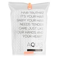 AQUIS Hair Turban Waffle Luxe - White