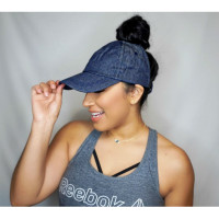 Curly Hair Solutions Curl Keeper BADAZZ Backless Curl Cap - Denim Blue