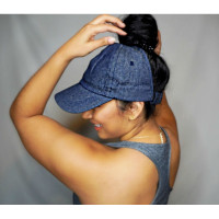 Curly Hair Solutions Curl Keeper BADAZZ Backless Curl Cap - Denim Blue