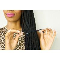 SwirlyCurly Snappee Black Hair Tie (5 ct.)