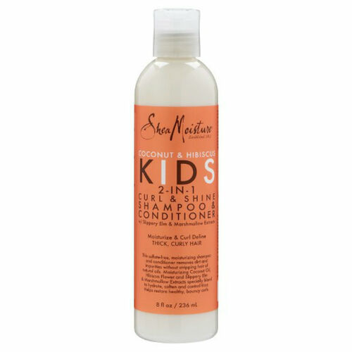 SheaMoisture Coconut & Hibiscus Kids 2-in-1 Curl and Shine Shampoo and Conditioner (8 oz.)