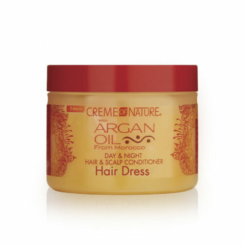 Creme Of Nature Argan Oil Day & Night Hair & Scalp Conditioner Hair Dress (4.76 oz.)