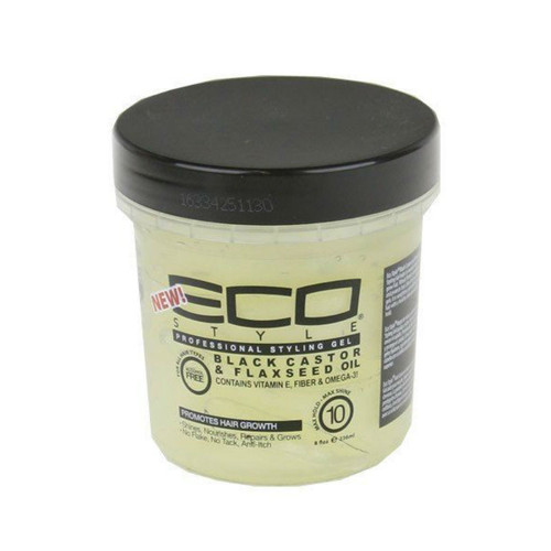 Ecoco Eco Style Professional Styling Gel Black Castor & Flaxseed Oil (8 oz.)