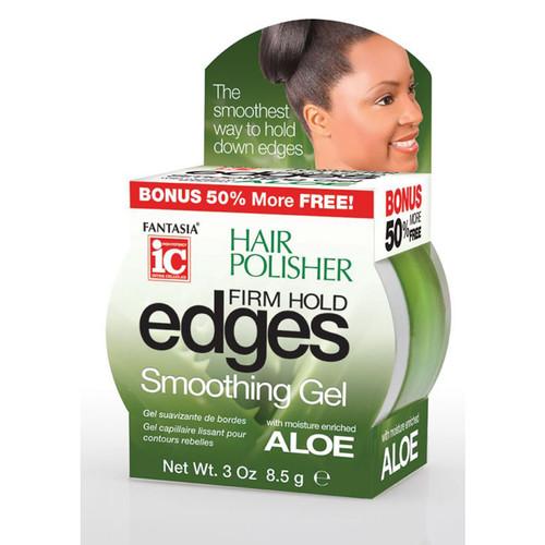 Fantasia IC Hair Polisher: Edges Firm Hold Smoothing Gel (3oz.)
