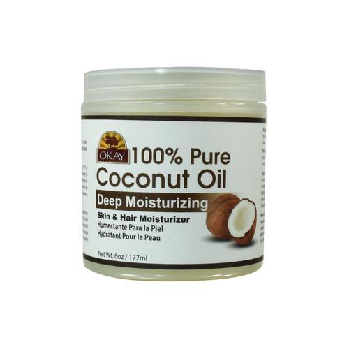 OKAY Pure Naturals Pure Coconut Oil Deep Moisturizing Skin and Hair Moisturizer (6 oz.)