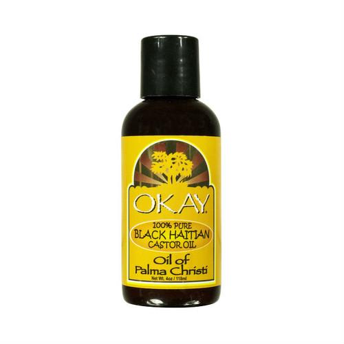 OKAY Pure Naturals Pure Black Haitian Castor Oil (4 oz.)
