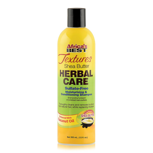 Africa's Best Textures Shea Butter Herbal Care Sulfate-Free Moisturizing & Conditioning Shampoo (12 oz.)