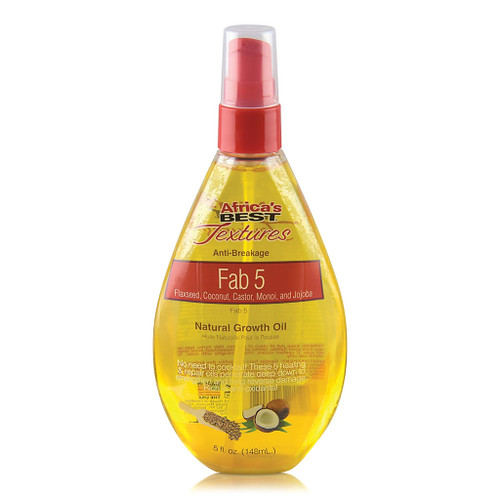 Africa's Best Textures Anti-Breakage Fab 5 Natural Growth Oil (5 oz.)
