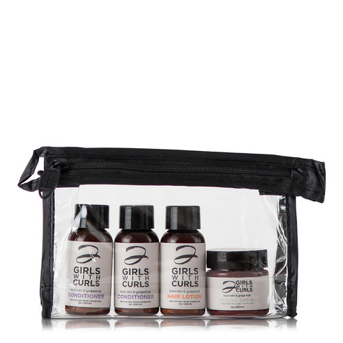 2 Girls With Curls Lavender and Grapefruit Travel Set (4 pc.)