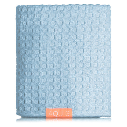 AQUIS Hair Towel Waffle Luxe - Dream Boat Blue