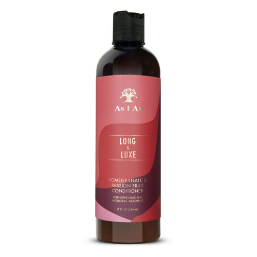 As I Am Long & Luxe Pomegranate & Passion Fruit Conditioner Strengthening and Hydrating Treatment (12 oz.)