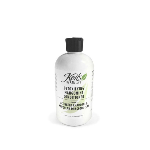 Koils by Nature Detoxifying MangoMint Conditioner with Activated Charcoal and Moroccan Rhassoul Clay (12 oz.)