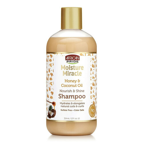 African Pride Moisture Miracle Honey & Coconut Oil Shampoo (12 oz.)